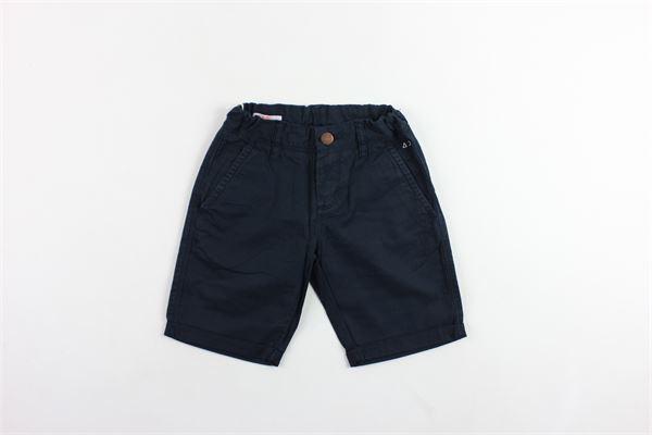 bermuda in cotone tasca america tinta unita girovita regolabile SUN68 | Bermuda | B18301BLU