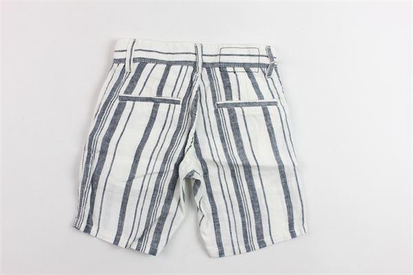 bermuda in cotone tasca america rigato girovita regolabile SUN68 | Bermuda | B19311BIANCO