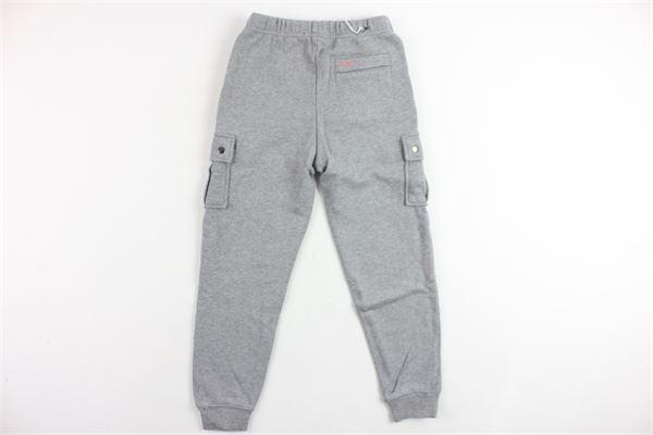 pantalone in felpa tinta unita con tasconi SUN68 | Pantaloni | F19325GRIGIO