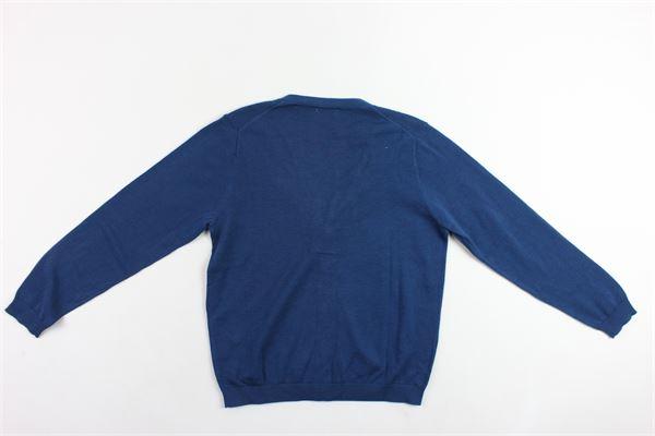 cardigan manica lunga tinta unita scollo a v SUN68 | Cardigan | K19304BLU