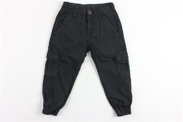 pantalone tasca america tinta unita giorvita regolabile con tasconi e elastico alle caviglie e in vita SUN68 | Pantaloni | P19303NERO