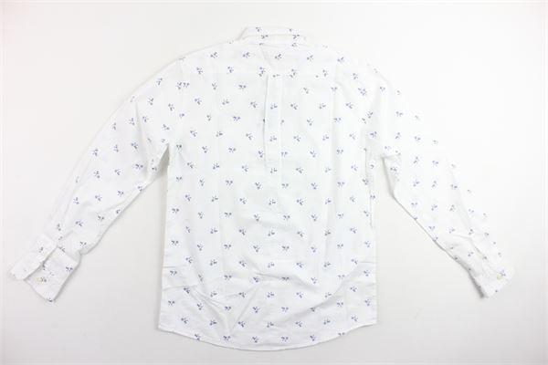 camicia m/lunga con taschino stampa biciclette SUN68 | Camicie | S18312BIANCO