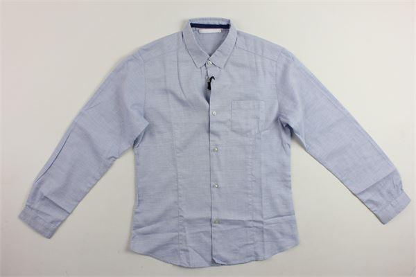 camicia manica lunga microfantasia con taschino TAGLIATORE | Camicie | CA222AZZURRO