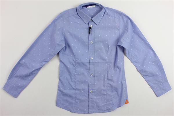 camicia manica lunga microfantasia TAGLIATORE | Camicie | CQ220CELESTE