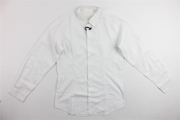 camicia manica lunga tinta unita TAGLIATORE | Camicie | TCA101BIANCO