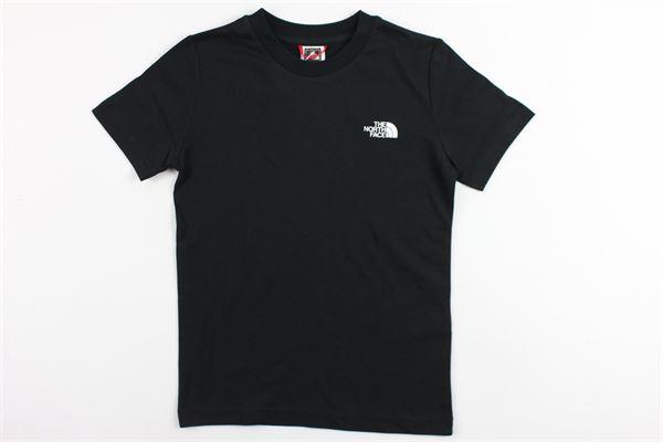 t-shirt mezza manica tinta unita con stampa THE NORTH FACE | T-shirts | T92WANFN4NERO