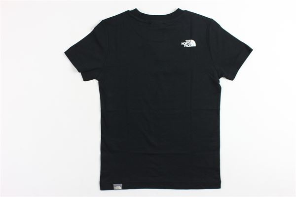 t-shirt mezza manica tinta unita con stampa THE NORTH FACE | T-shirts | T92WANKY4NERO