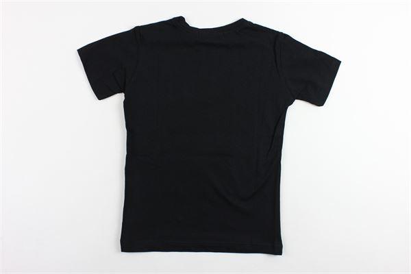 t-shirt mezza manica tinta unita con stampa TRACK | T-shirts | GCMMNERO