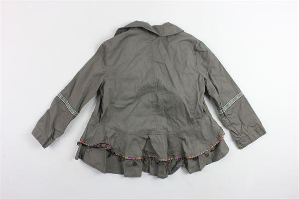 giacca tinta unita con rouches e applicazioni TWINSET | Giacche | 191GJ2070VERDE
