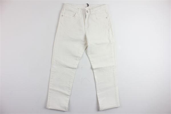 pantalone in denim 5 tasche VERSACE | Pantaloni | YVMPA153BIANCO