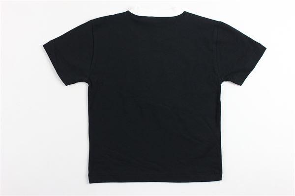 t-shirt mezza manica tinta unita stampa logo versace VERSACE | T-shirts | YVMTS151NERO