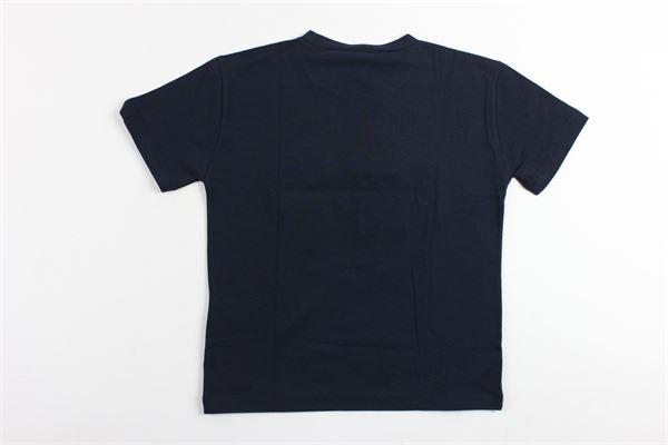 t-shirt mezza manica tinta unita stampa logo versace in rilievo VERSACE | T-shirts | YVMTS158BLU