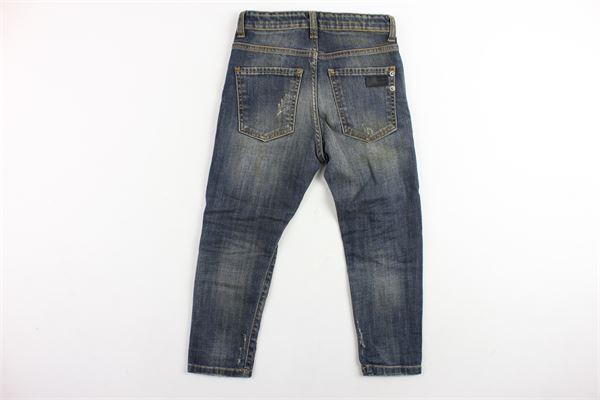 jeans 5 tasche tinta unita con toppe YES LONDON | Jeans | J1030BLU