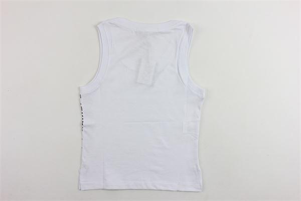 canotta tinta unita in cotone con stampa laterale YOSHI | Canotte | KYB182BIANCO