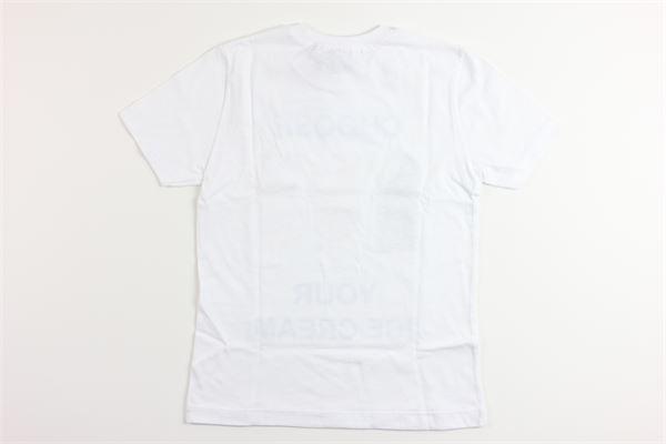 t-shrt tinta unoita con stampa 10 X 10 | T-shirts | AN56M007BIANCO