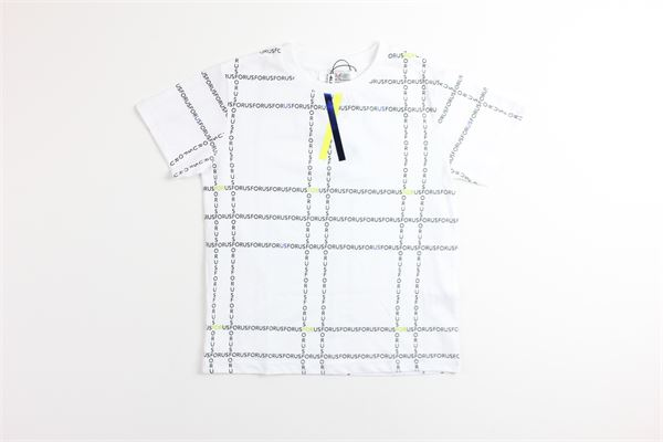 t-shirt tinta unita con stampa 4US | T-shirts | TSP2131JBIANCO