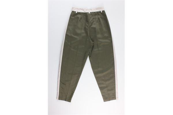 pantalone tinta unita con profili in contrasto 8PM | Pantaloni | D8PM01P33VERDE MILITARE
