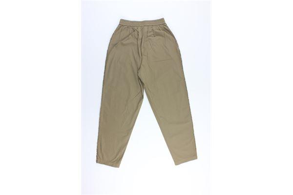 pantalone tinta unita con elastico in vita 8PM | Pantaloni | D8PM01P98TABACCO