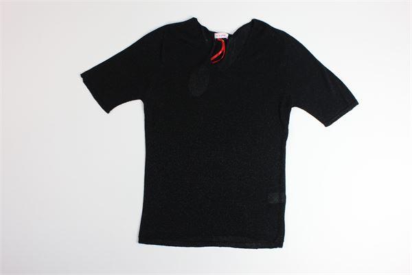 maglia tinta unita in lurex A' LA PAGE | Maglie | 0100NERO