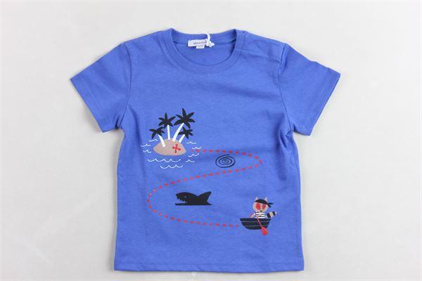 t-shirt mezza manica tinta unita con stampa ABSORBA | T-shirts | 9Q10152BLU