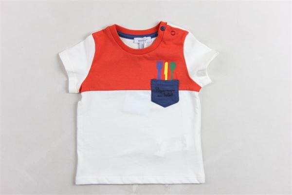 t-shirt mezza manica tinta unita con profili in contrasto ABSORBA | T-shirts | 9Q10192BIANCO