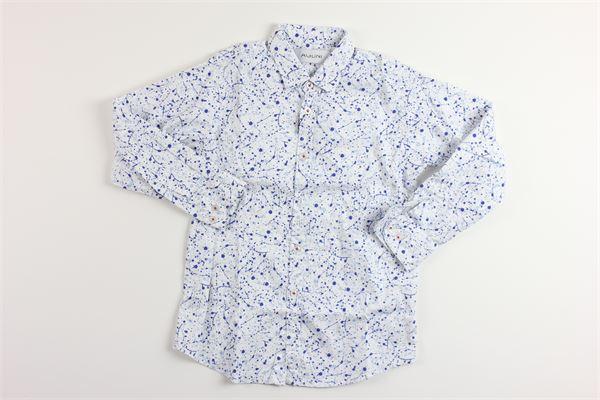 camicia manica lunga stampa fantasia AGLINI | Camicie | 67615BIANCO