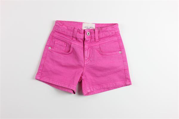 short in denim tinta unita 5 tasche ALBERTA FERRETTI | Shorts | 022150FUXIA