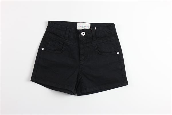 short in denim tinta unita 5 tasche ALBERTA FERRETTI | Shorts | 022150NERO