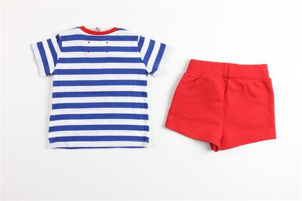 t-shirt fantasia e bermuda tinta unita ALBERTA FERRETTI | Completi | 024412ROSSO/BLU