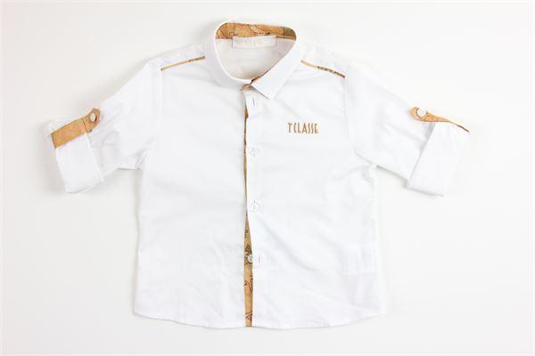 camicie mezza manica tinta unita con profili in contrasto ALVIERO MARTINI | Camicie | 2576C0150BIANCO