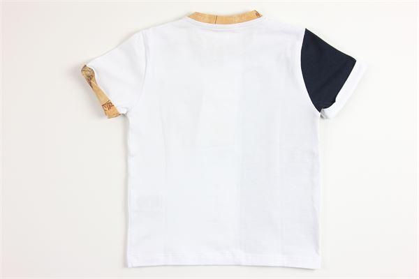 t-shirt mezza manica tinta unita con stampa ALVIERO MARTINI   T-shirts   2576M0125BIANCO
