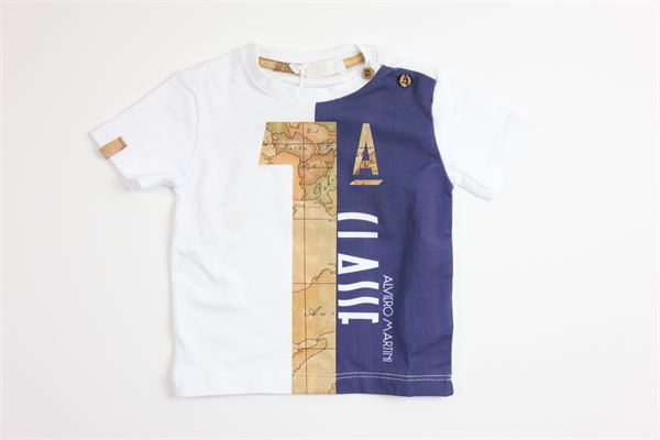 t-shirt mezza manica tinta unita con stampa ALVIERO MARTINI | T-shirts | 2576M0129BIANCO