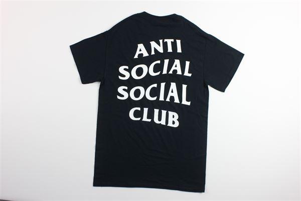 t-shirt mezza manica tinta unita con stampa ANTI SOCIAL SOCIAL CLUB | T-shirts | T01BBLU