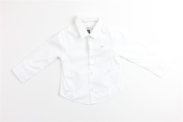 camicia manica lunga tinta unita ARMANI BABY | Camicie | 6XHC01BIANCO