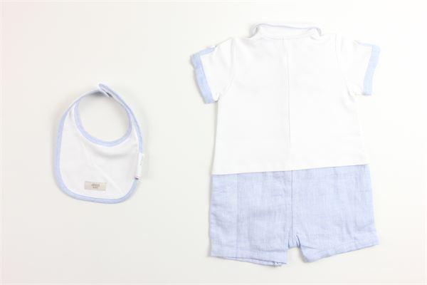 paglieccetto bicolore con taschino mezza manica e bavetto ARMANI BABY | Pagliaccetti | PAGLIACCETTOAR1BIANCO