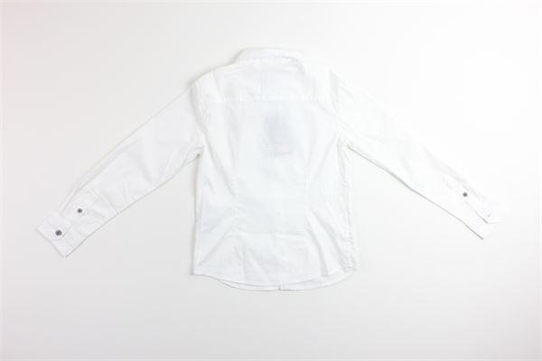 camicia manica lunga tinta con stampa ARMANI JUNIOR | Camicie | 3Y4C211BIANCO