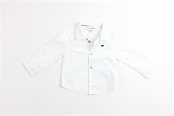 camicia manica lunga tinta unita EMPORIO ARMANI | Camicie | 3Z4C14BIANCO
