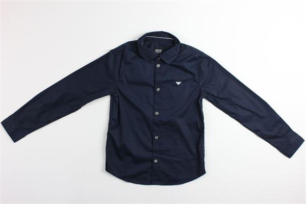 camicia manica lunga tinta unita ARMANI JUNIOR | Camicie | 3Z4C14BLU