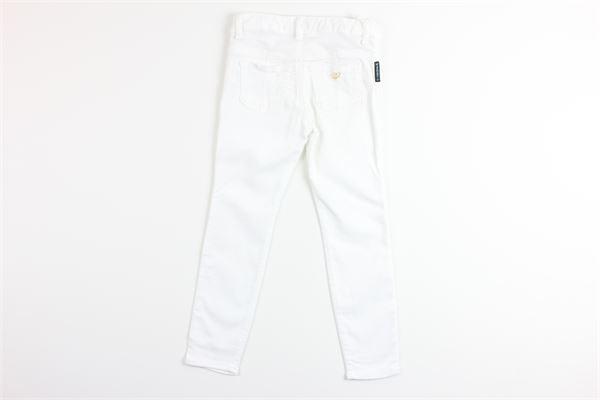pantaloni tinta unita girovita regolabile 5 tasche ARMANI | Pantaloni | 201830BIANCO