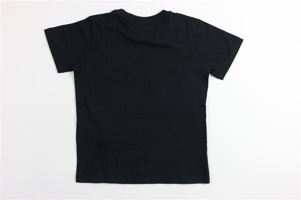 t-shirt tinta unita con stampa ARMANI | T-shirts | 6G4TC3NERO