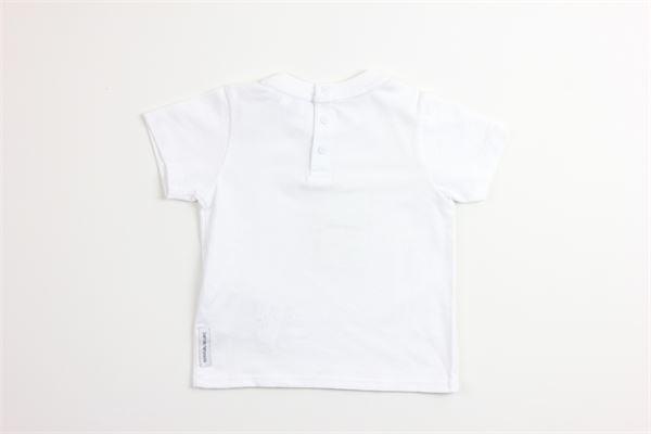 t-shirt tinta unita con stampa ARMANI | T-shirts | 8NHT05BIANCO