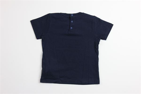 t-shirt tinta unita con stampa ARMANI | T-shirts | ARMANI1BLU