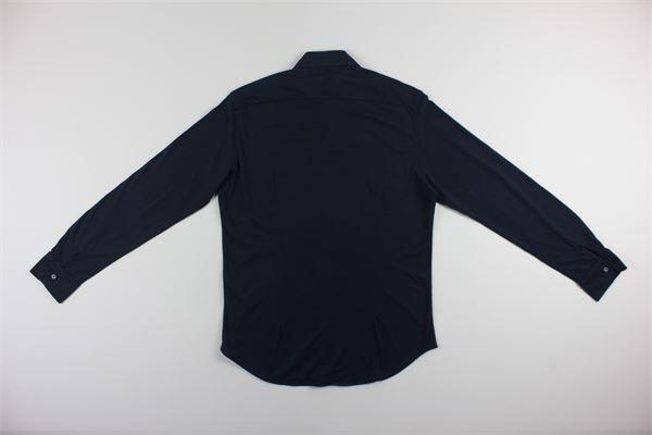 camicia manica lunga tinta unita ASPESI | Camicie | AY33BLU