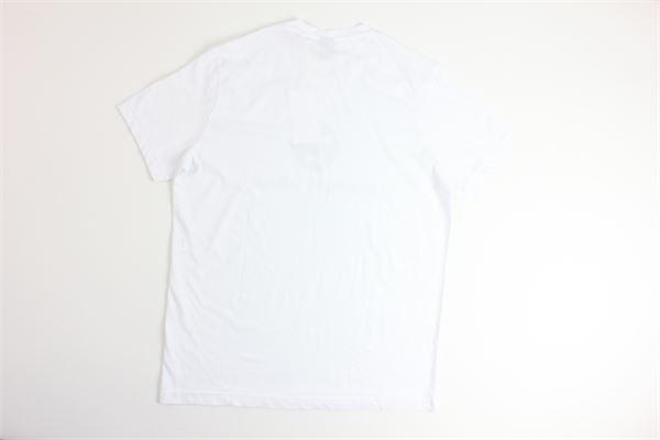 t-shirt mezza manica tinta unita con stampa ASPESI | T-shirts | FY07BIANCO