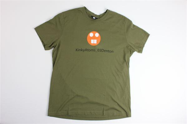 t-shirt mezza manica tinta unita con stampa ASPESI | T-shirts | FY13VERDE MILITARE