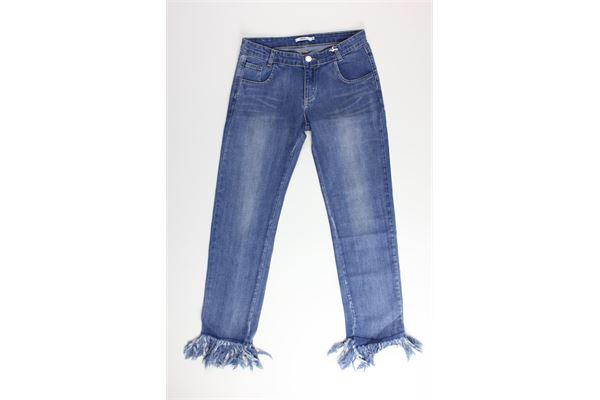 jeans tinta unita con girovita regolabile AYGEY | Jeans | KDJS8150JEBLU
