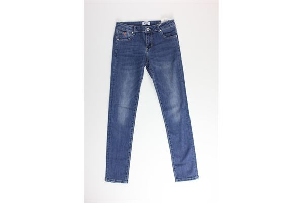 jeans tinta unita con girovita regolabile AYGEY | Jeans | KJJS8347BLU
