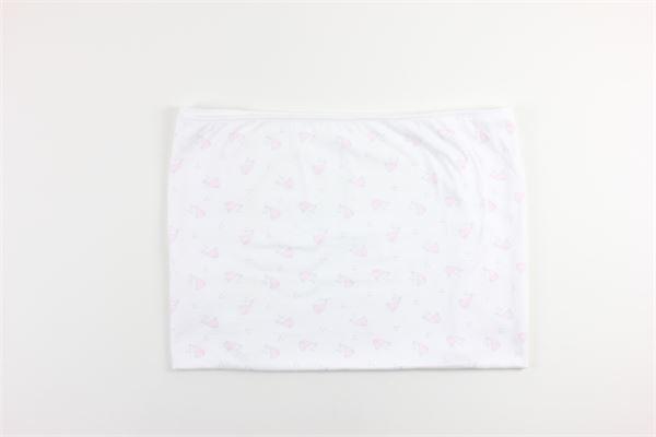 coperta tinta unita con stampa fantasia BABIDU | Coperte | 4085BIANCO