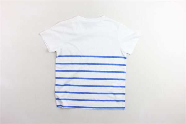 t-shirt tinta unita profili in contrasto BALMAIN | T-shirts | 6K8541KX080BIANCO