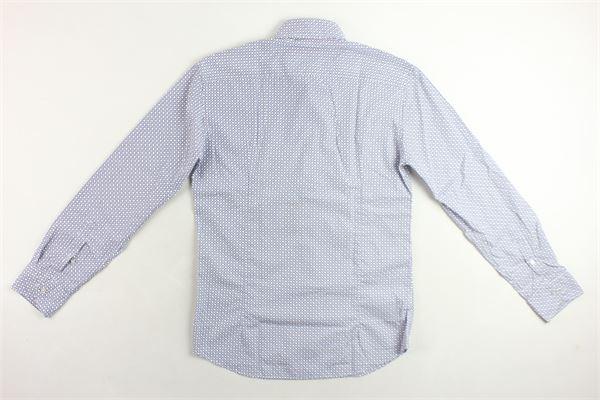 camicia manica lunga 100% cotone tinta unita con stampa fantasia BASTONCINO | Camicie | B1582BIANCO